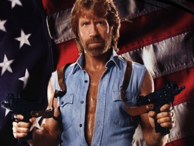 Chuck Norris Nunchucks Obama in the Gonads
