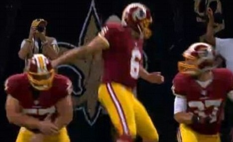 Redskin Snapper Breaks Arm, Keeps Playing 2 quarters. Thanks to being Tasered as a kid.
