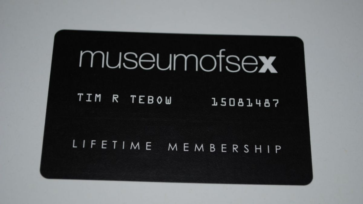 Tebow Gets Lifetime Membership to Museum of Sex