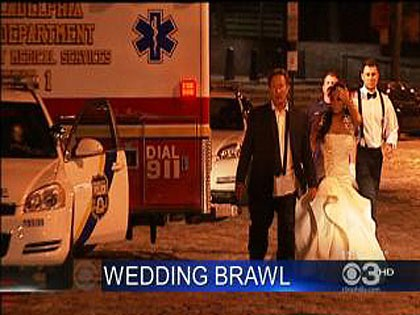 Philly wedding brawl caught on tape
