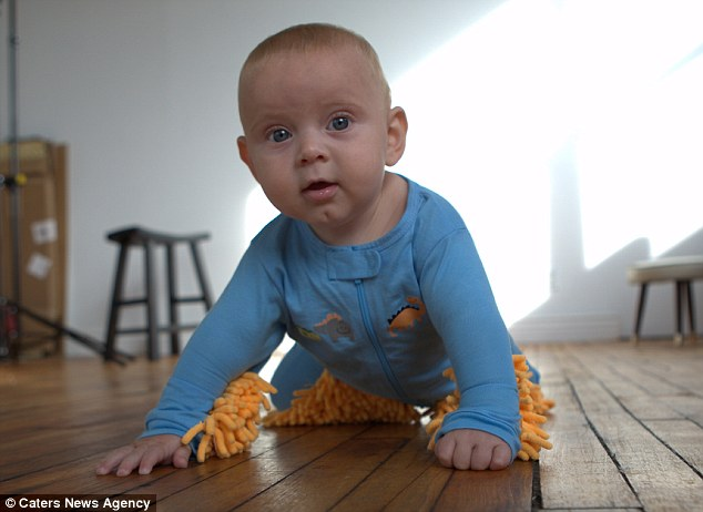 New way to get your baby to help with thehousework