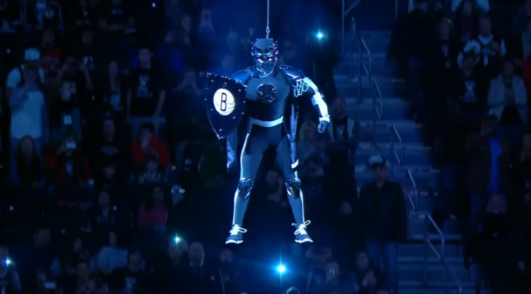 Nets Unveil New Mascot, The 'BrooklyKnight'