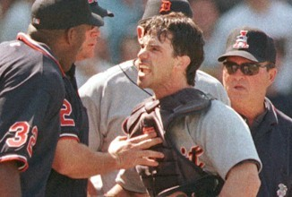 Brad Ausmus, Casually Beats His Wife.